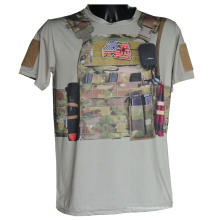 Camo táctica deportiva camiseta manga corta militar Python camiseta