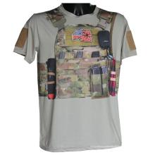 Camo tático desporto t-shirt manga curta militar Python t-shirt