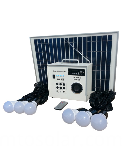 solar energy system with radio