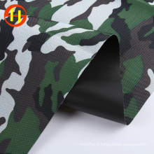 Tissu oxford d'impression camouflage polyester pour chemise
