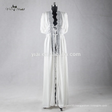 RB003 Delicate Lace Trim Sexy Kimono Robe for Women