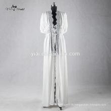 RB003 Delicate Lace Trim Sexy Kimono Robe for Women