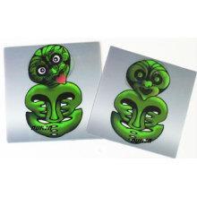 2015 imán verde lindo del refrigerador del PVC 3D