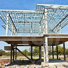 Stahlbau und modulare Stahlbaugebäude Verwendung für Lager