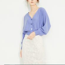 2020 new design short style women's cashmere cardigan cashmere knitwear