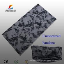 Lingshang 100% poliéster multi-función personalizado cuello bandana tubo de cuello