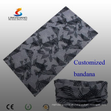 Lingshang 100% poliéster multifuncional personalizada crânio bandana pescoço tubo