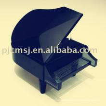 modelo de piano de cristal preto / instrumento de música para favores do presente