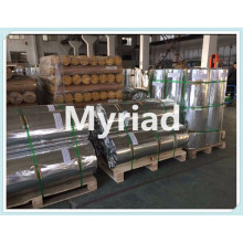 Aluminum foil with woven fabric coated PE insulation