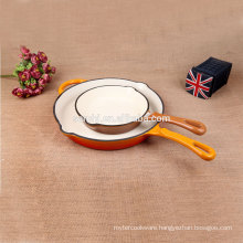 New arrival Cast Iron Enamel backing pan amc cookware price