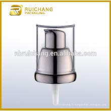 Pompe à lotion en plastique / pompe à loches crème de 18 mm / distributeur de pompe à lotions de revêtement UV avec AS overcap