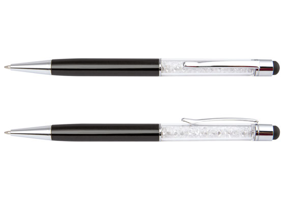 Stylus pen with crystal
