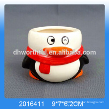 Decorative penguin shaped ceramic ice cream cups for wholesale