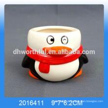 Pinguim decorativo em forma de copos de sorvete de cerâmica para atacado