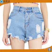 Wholesale Ladies Fashion Shorts Denim Jeans Shorts