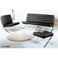 Sofá de cuero superior de la recepción de varios colores del diseño contemporáneo para la venta al por mayor