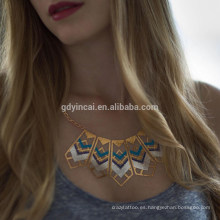 Etiqueta engomada atractiva metálica del tatuaje de la astilla del oro para las muchachas