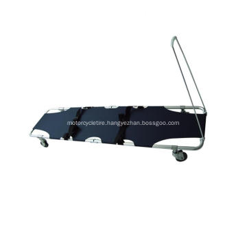 Folding Ambulance Stretcher With Omni-directional castor wheels  Pull  Rod