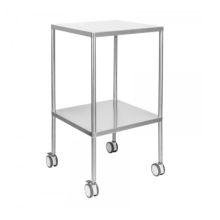 Stainless steel trolley in hospital