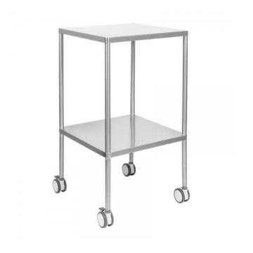 Stainless steel trolley in hospital