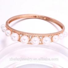 En gros fabricant de bijoux perle bracelet rose plaqué or accessoires