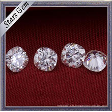 Vente Chaude 9X9mm Coussin Forme Grande Taille Blanc Synthétique Moissanite Diamant