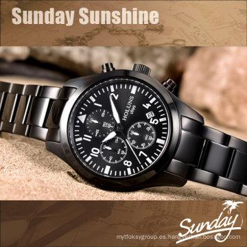 Reloj de los hombres Reloj Hombres Relogio Masculino Relojes de la marca de fábrica Reloj masculino de lujo de la marca de fábrica Piloto militar Relojes de pulsera