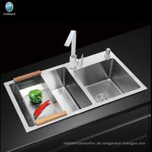 Modulare Küche Designs Bauernhaus Schürze Einlochmontage Handcrafted Edelstahl Küchenspüle