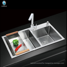 Modular kitchen Designs Farmhouse Apron Single Hole Handcrafted Stainless Steel Kitchen Sink
