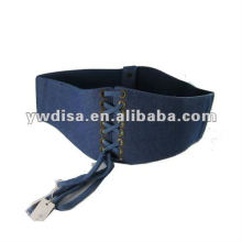 Wide Canvas Elastic Belt For Woman