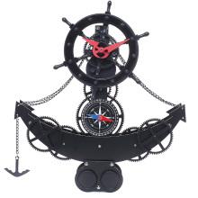 Anchor shape gear desktop clock