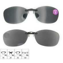 2015 High Quality Polarized Lens Clip on Sunglasses with Case