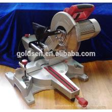 Moteur à induction à longue durée de vie de 1800 W Machine à découper en aluminium à bois électrique Scie à onglet composée à diaphragme 255 mm