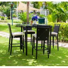 Hot Trendy Splendid Design Poly Synthetische Rattan Bar Set Für Outdoor Garten Patio Wicker Möbel