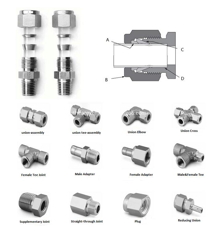 Union connector , elbow, tee, terminal, valves
