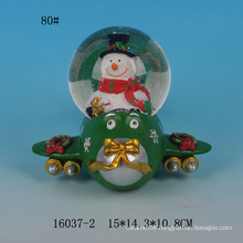 Lovely Santa design 80MM resin snow globes wholesale