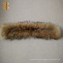 Colar de pele de guaxinim de preço de fábrica para homens ou mulheres Casaco de inverno