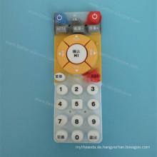 Benutzerdefinierte Siebdruck Druck Silikonkautschuk Button Pad