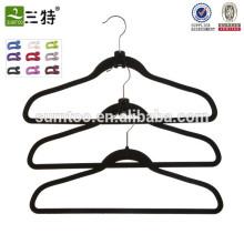 Cintre de pantalon flocage de fabricant de qualité haut de gamme