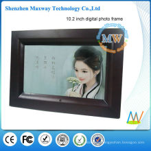 nice design 10.2 inch wood frame digital photo frame