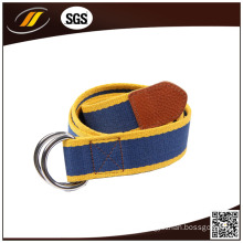Hot Sale Customized Color Canvas Waist Belt with Double D-Ring Buckle