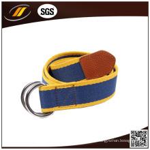 Correia de cintura personalizada da lona da cor da venda quente com fivela dobro do anel D