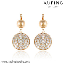 92589 xuping ladies jewelry gold plated stud earrings