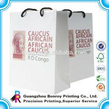 Изготовленный на заказ Логос напечатал декоративный подарок бумажный мешок с ручками оптовая роскошные корзины
