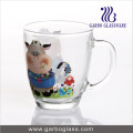 Customized Design Gift Mocha Glass Mug for Coffee or Milk