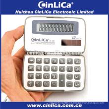 JS-12H de doble potencia 12 mini calculadora digital de mano