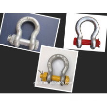 Drop Forged Safety Bolt Bow Shackle--Qingdao Rigging
