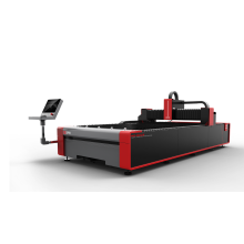Máquina de corte láser de fibra de placa de metal económica