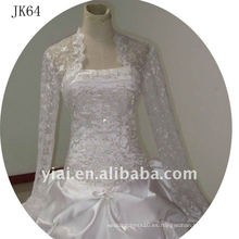 JK64 mujeres Beaded manga larga chaqueta de boda