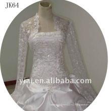 JK64 женщин из бисера с длинным рукавом свадебное куртка